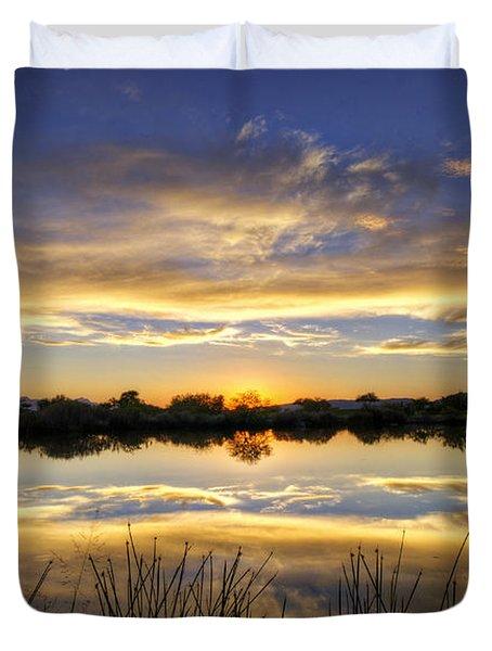 On Golden Shores  Duvet Cover by Saija  Lehtonen
