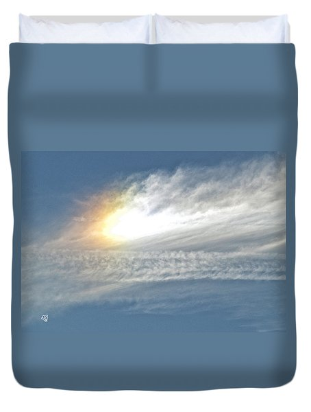 Duvet Cover featuring the photograph On High by Barbara Middleton