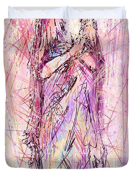 On My Toes Duvet Cover by Rachel Christine Nowicki