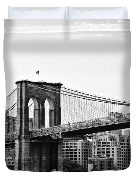 On The Brooklyn Side Duvet Cover by Bill Cannon