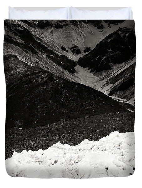 On The Glacier Duvet Cover by Konstantin Dikovsky