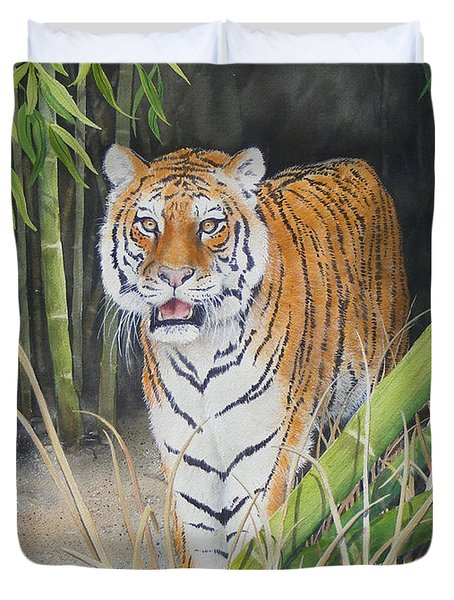 On The Prowl  Sold Prints Available Duvet Cover