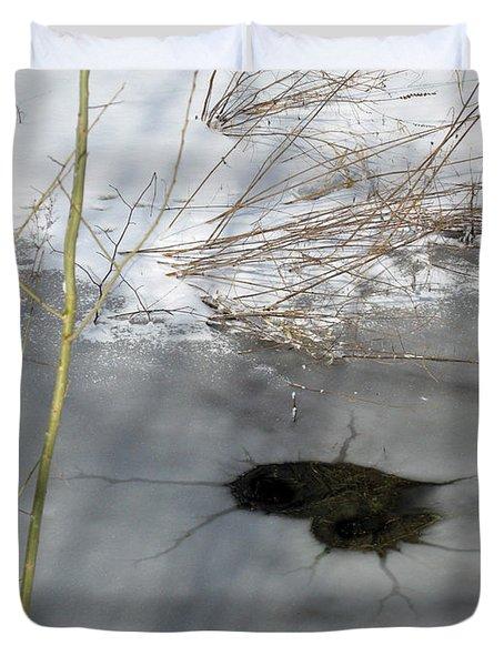 On The River. Heart In Ice 02 Duvet Cover by Ausra Huntington nee Paulauskaite