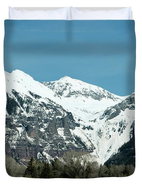 On The Road To Telluride Duvet Cover