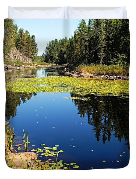On The Way To East Lunch Lake Duvet Cover by Larry Ricker