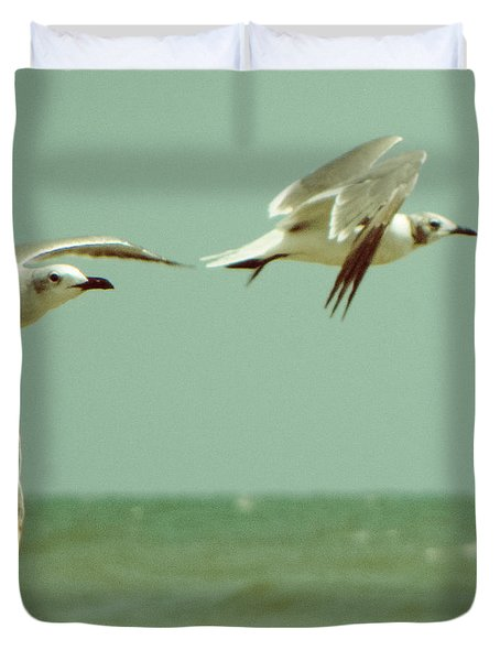 On The Wings Of A Seagull Duvet Cover