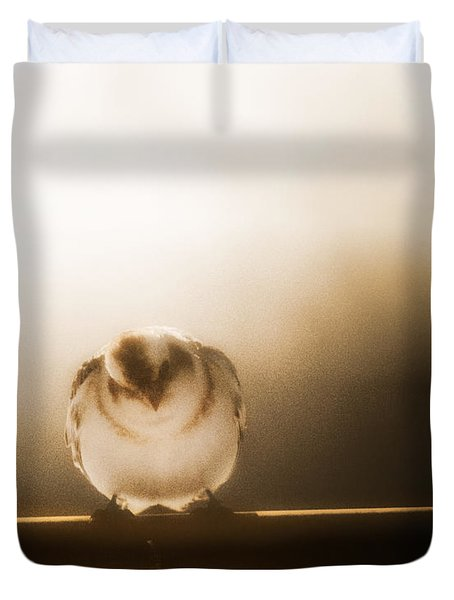On Winters Edge Duvet Cover
