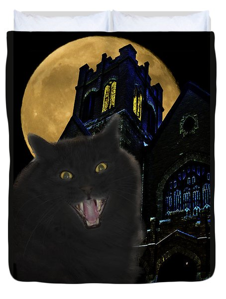 One Dark Halloween Night Duvet Cover