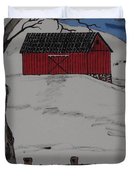 Only A Winter Day Duvet Cover
