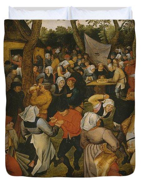 Open Air Wedding Dance Duvet Cover by Pieter the Younger Brueghel