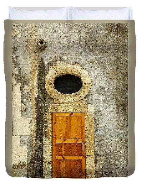 Open That Door Duvet Cover