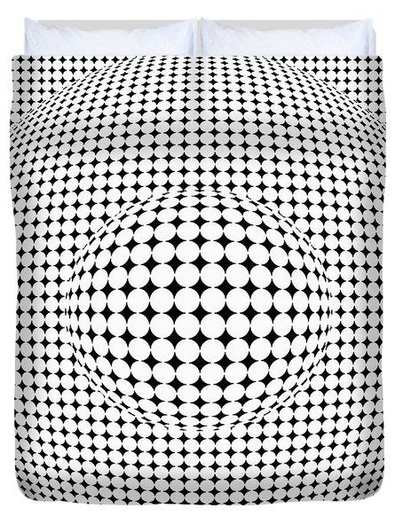 Optical Illusion Ball In Ball Duvet Cover