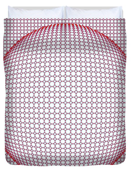 Optical Illusion Blue And Red Duvet Cover