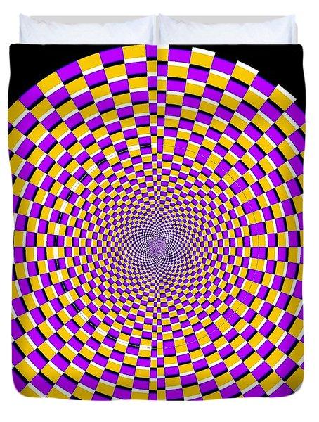 Optical Illusion Moving Cobweb Duvet Cover