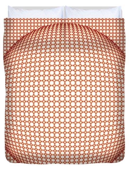 Optical Illusion Orange Ball Duvet Cover by Sumit Mehndiratta