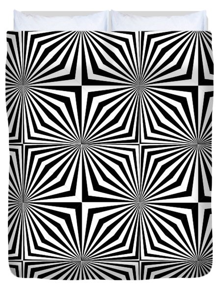 Optical Illusion Spots Or Stares Duvet Cover