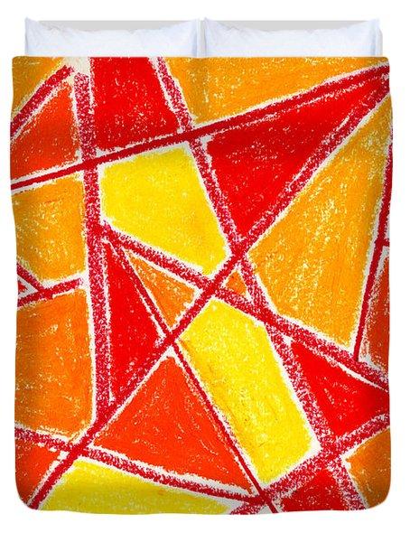 Orange Abstract Duvet Cover by Hakon Soreide