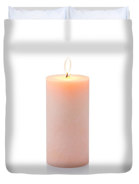 Orange Candle Duvet Cover by Atiketta Sangasaeng