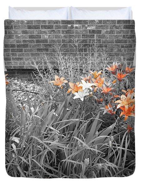 Orange Day Lilies. Duvet Cover by Ausra Huntington nee Paulauskaite