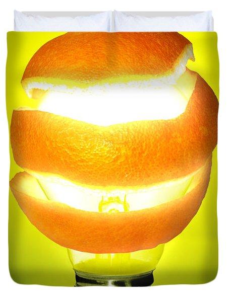 Orange Lamp Duvet Cover by Carlos Caetano
