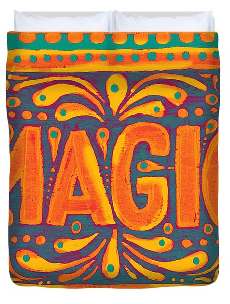 Orange Magic  Duvet Cover