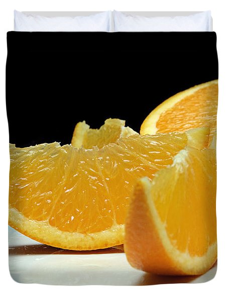 Orange Slices Duvet Cover by Andee Design