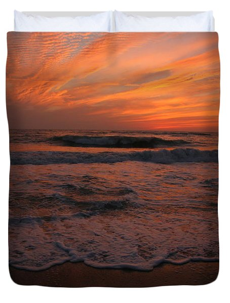 Orange To The End Duvet Cover