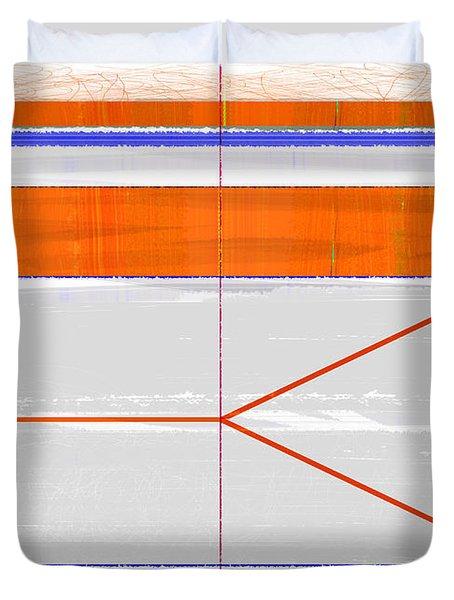 Orange Triangle Duvet Cover