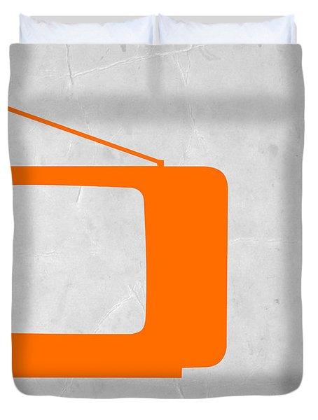 Orange Tv Vintage Duvet Cover