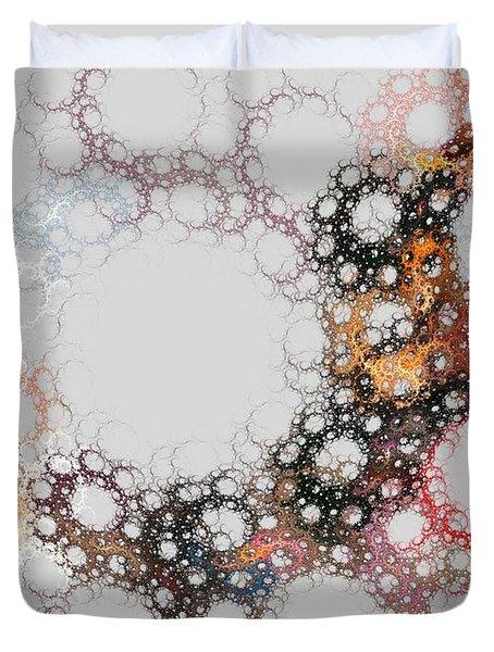 Duvet Cover featuring the digital art Orbital by Kim Sy Ok