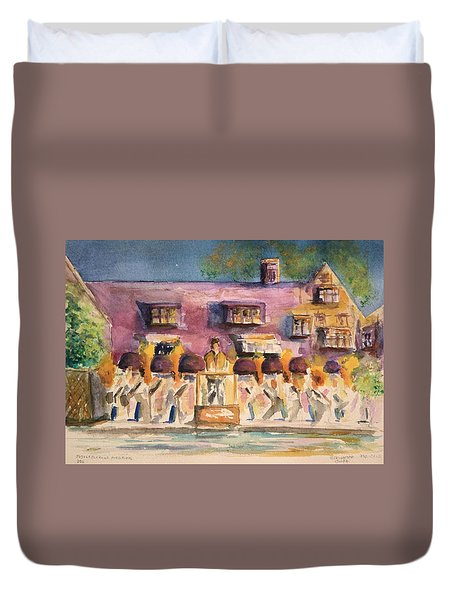 Orchestra Evening Gala At Ford House  Duvet Cover by Bernadette Krupa