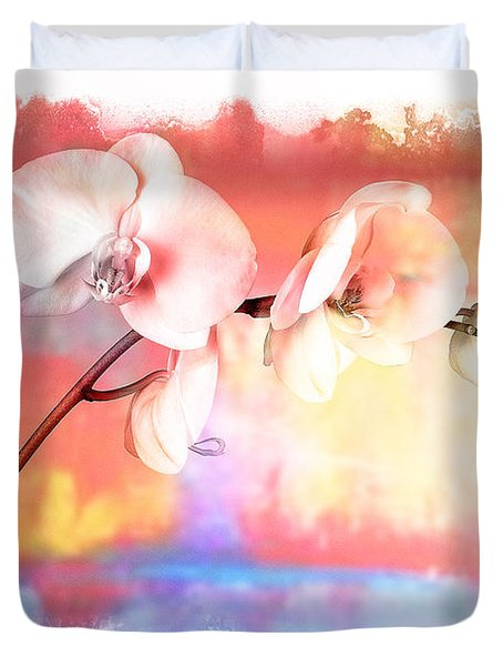 Orchid 3 Duvet Cover by Mauro Celotti