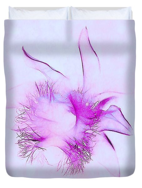 Orchid Impression Duvet Cover by Judi Bagwell