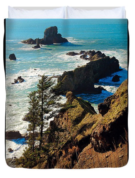 Oregon Coast Duvet Cover by Athena Mckinzie