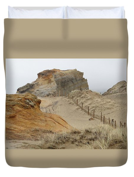 Oregon Sand Dunes Duvet Cover by Athena Mckinzie