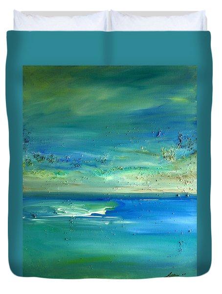 Organic Seascape Duvet Cover