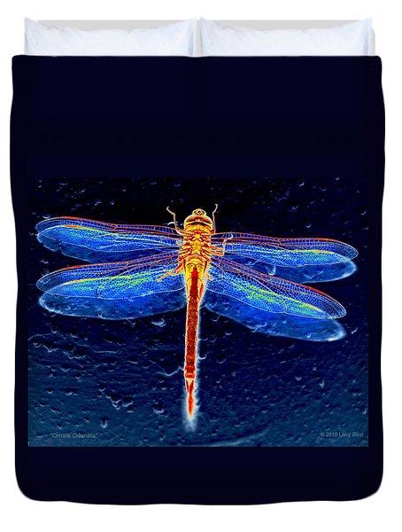 Ornate Odonata Duvet Cover