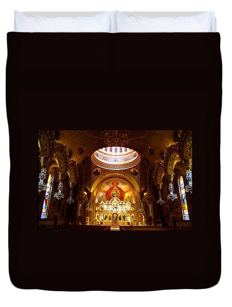 Orthodox Church In Los Angeles, California Duvet Cover