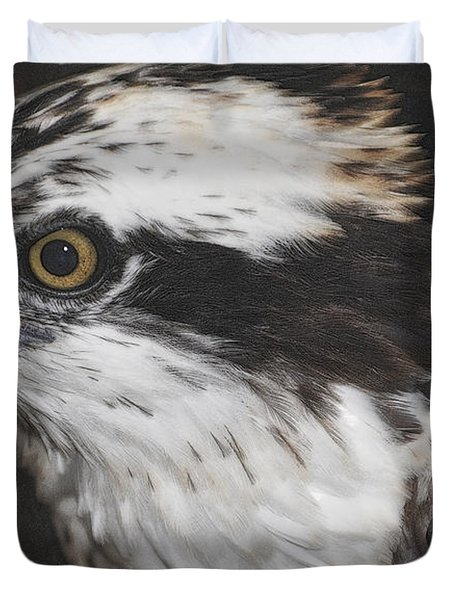 Duvet Cover featuring the photograph Osprey by Lydia Holly