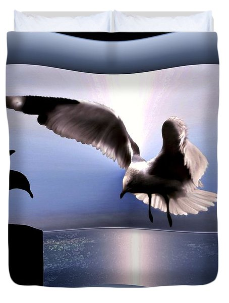 Out Of Bounds Duvet Cover by Dale   Ford