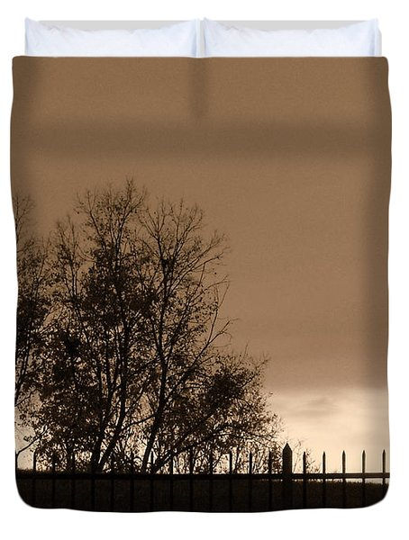 Out Of Reach Duvet Cover by Ed Smith