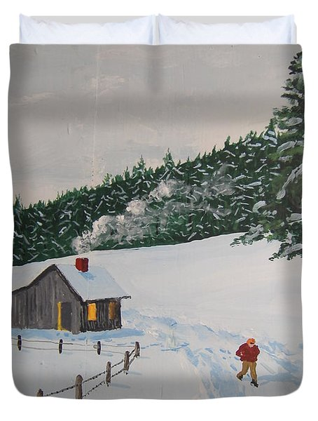Out To Get The Mail Duvet Cover by Norm Starks