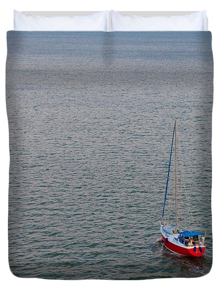 Out To Sea Duvet Cover by Chad Dutson