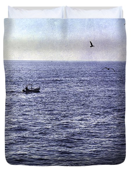 Out To Sea Duvet Cover by Madeline Ellis