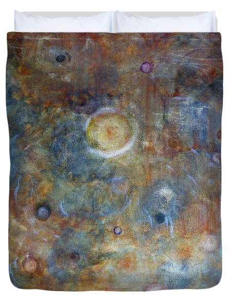 Duvet Cover featuring the painting Outer Limits by Tom Roderick