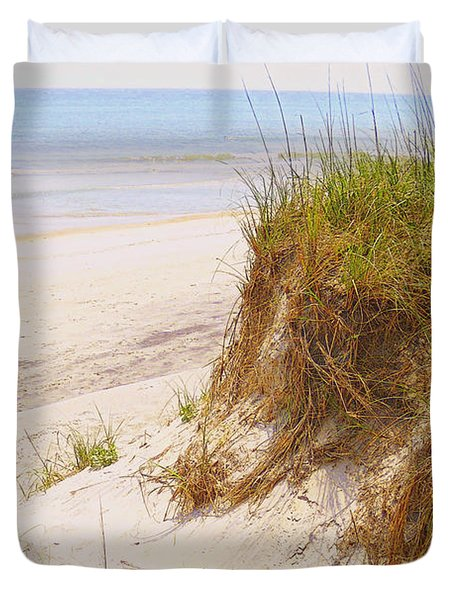 Duvet Cover featuring the photograph Outerbanks by Lydia Holly