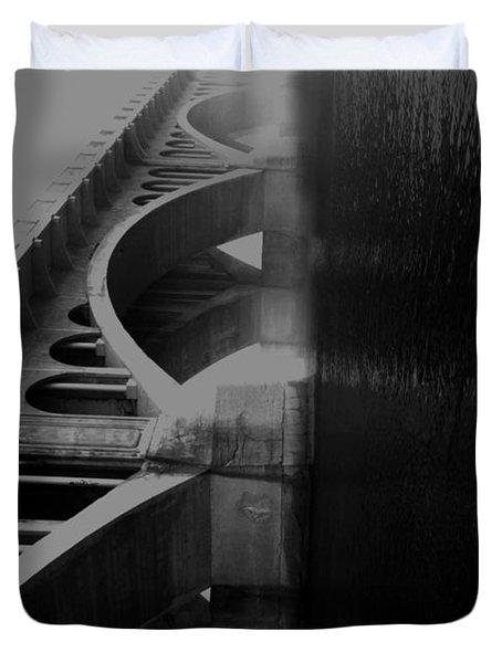 Over The Bridge Duvet Cover by Jerry Cordeiro