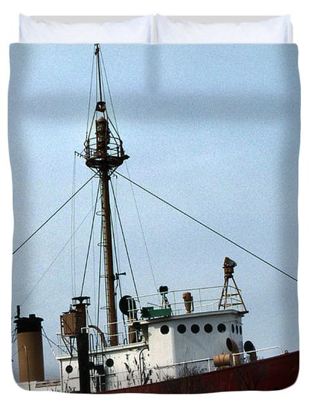 Overfalls Lightship Duvet Cover by Skip Willits