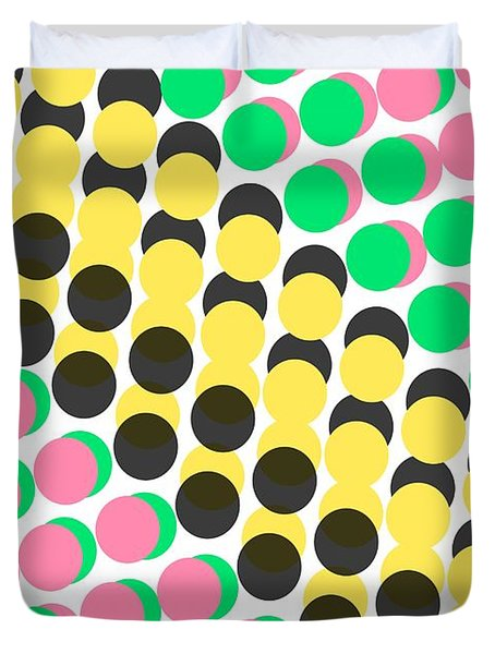 Overlayed Dots Duvet Cover by Louisa Knight