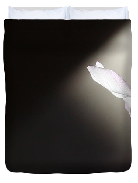 Duvet Cover featuring the photograph Oxalis Bloom by Kume Bryant